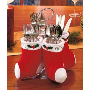 christmas flatware caddy - Christmas Silverware Holders