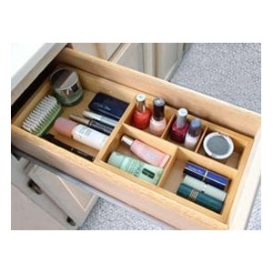 Axis Natural Wood Expandable Cosmetic Drawer Organizer