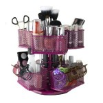 Nifty Cosmetic Organizing Carousel Rose