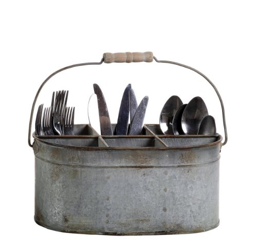Chabby Chic Tin Utensil Caddy Utensil Holders